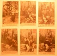 CPA / Lot De 6 Cartes Postales Anciennes / LESSIVE Lavandières Blanchisseuses / Série En AUVERGNE - Paysans