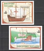 E696 GRENADA TRANSPORT SHIPS DISCOVERY VOYAGES SANTA MARIA 2BL MNH - Ships