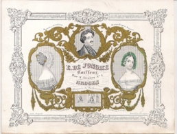 """BRUGGE,BRUGES""""E.DE JONGHE COIFFEUR-KAPPER""""LITHO DAVELUY,BRUGGE 190/147MM - Cartes Porcelaine"""