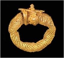 India  Gold Hair Ring Gupta Period, Gujarat - Archéologie
