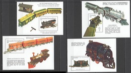 E703 GRENADA GRENADINES TRANSPORT TRAINS MODELS TOYS 4BL MNH - Trains