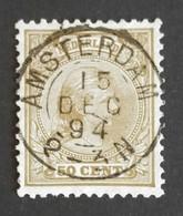 Nederland/Netherlands - Nr. 43c Met Mooi Rond Stempel Amsterdam - Periode 1891-1948 (Wilhelmina)