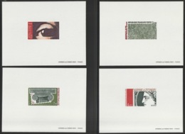 1975 - YT 1830 à 1833 - Epreuve De Luxe  - Cote  300€ - Pruebas De Lujo