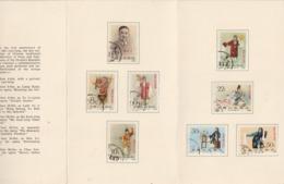 Chine - China Série 648 A 755 Oblitéré Sur Document - Usados