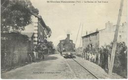 ST NICOLAS MAUVANNE : La Station Du Sud France - TRES RARE CPA  - Locomotive - Autres Communes