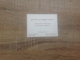Carte De Visite De Restaurant   L' Ammonite     Paris  15eme - Cartoncini Da Visita