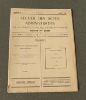 Livret Administratif De Recensement De La Population En Seine Et Marne En 1962 - Right