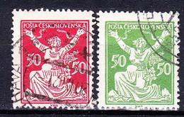 Tchécoslovaquie 1920 Mi 174-5 (Yv 167-8), Obliteré, - Used Stamps
