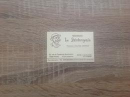 Carte De Visite De Restaurant  Le Saintongeais   Paris 9eme - Cartoncini Da Visita