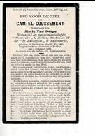 DP 9931 - CAMIEL COUSSEMENT - VAN DORPE - WORTEGEM 1860 + MELDEN 1928 - Images Religieuses