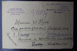 Romania Registered Cover 20x Mi 264, Bucuresti , Triesen, To Vaduz Liechtenstein, 1920, Unusaul Destination - Brieven En Documenten