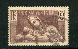 """FRANCE - POUR SAUVER LA RACE - N° Yvert 356 Obli. CàD PERLÉ Du """"RHONE De 1937"""" - Marcophilie (Timbres Détachés)"""