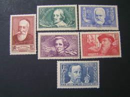 FRANCE 1938 YVERT Set No 380-385  MNH.. - Unused Stamps