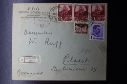 Romania Registered Cover Aviation Fund 1936 Bucuresti CDS To Ploestti Cds 1938 - Brieven En Documenten