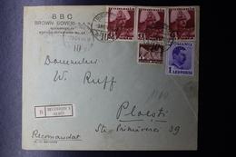 Romania Registered Cover Aviation Fund 1936 Bucuresti CDS To Ploestti Cds 1938 - 1918-1948 Ferdinand, Charles II & Michael