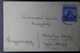 Romania Railway TPO  Cover 7.50 Little Entente Teius-Arad / 269 TPO To Györ Hungary 1938  Mi 536 - 1918-1948 Ferdinand, Charles II & Michael