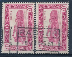 "TR 318 (2x) -  ""RACOUR"" - Gescheiden Zegels/timbres Séparés - (ref. 30.215) - 1942-1951"