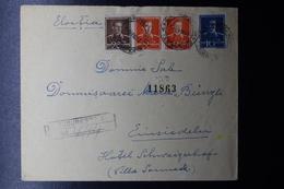 Romania Registered Cover 1943 Bucuresti To Switserland, Mi 654 + 661 + 662 - Brieven En Documenten