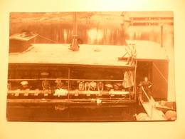 CPA / Carte Postale Ancienne / écrite Par La Proprietaire De La Péniche Augustine Chaix / Lavandières - Houseboats