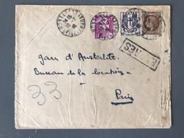 France N°673, 681 Et 724 Sur Lettre 1946 Par EXPRES De Montereau Pour Paris - (B1922) - Postmark Collection (Covers)