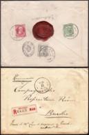 Belgique - Lettre COB 74+78+83 En Recommandé De Gand 26/XI/1910 Vers Bruxelles (RD15) DC5518 - 1905 Grove Baard