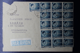 Romania Airmail Cover Inflation Period, Mixed Stamps From Cluj To Geneva Switserland 1948  31.000 L Rate Cover - Brieven En Documenten