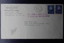 Romania Consulair USA Mail  Violet This Article Originally Mailed In Country Indicated By Postage 1949 - 1948-.... Republieken