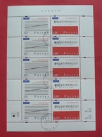 Poland 1998 - Used (with Gum) - Sheet Fi 3566/67 - Europa CEPT - Pologne Polen Polonia --- 410 Bl - Blocs & Feuillets
