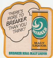 BEERMAT - TENNENT'S BREWERY (GLASGOW, SCOTLAND) - BREAKER MALT LIQUOR - (Cat No 095) - (1976) - Portavasos