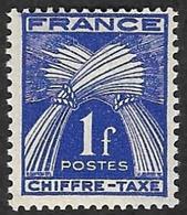 TAXE  N°  70 -  Chiffre-Taxe Gerbes  1f - NEUF** - 1859-1955 Neufs