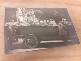HOEHEN-VERKEHR-FREIBURG I BR. - REISEGESELLSCHAFT - REISEBUS - CABRIO - OLDTIMER - MIT CHJAUFFEUR - 20/30er - Ansichtskarten