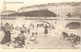 Dépt 06 - NICE - Les Blanchisseuses Du Paillon Et La Pont Vieux - (Édition Giletta, Phot., Nice, N° 40) - Laveuses - Altri