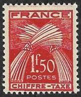 TAXE  N°  71 -  Chiffre-Taxe Gerbes  1f50 - NEUF** - 1859-1955 Neufs