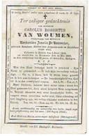 Doodsprentje - Senator VAN WOUMEN (Wedn. N. De Ruysscher) - Raadsheer - °BEERST En Overleden DIKSMUIDE 1869 - Images Religieuses