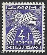 TAXE  N°  74 -  Chiffre-Taxe Gerbes  4f - NEUF** - Cote  7e - 1859-1955 Mint/hinged