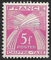TAXE  N°  75 -  Chiffre-Taxe Gerbes  5f - NEUF** - 1859-1955 Neufs