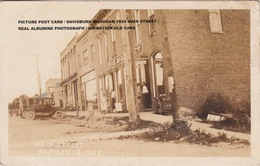 VINTAGE PICTURE POST CARD / DAVISBURG MICHIGAN 1924 MAIN STREET / REAL ALBUMINE PHOTOGRAPH / ANIMATION OLD CARS - Detroit