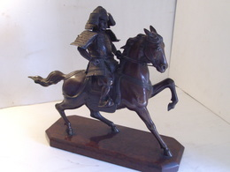 Samouraï à Cheval - Bronzen