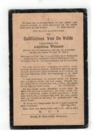 DP Guillielmus Van De Velde Geboren Baal 1841,wedn. V Angelina Wouters,gestorven Booischot 1914 - Religion & Esotérisme