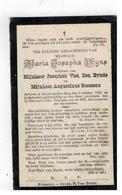 DP Maria Josepha Wijns Geboren Heist O D Berg 1833,wed.v Josepus Van Den Eynde En Aug.Goossens,gestorven Booischot 1911 - Religion & Esotérisme