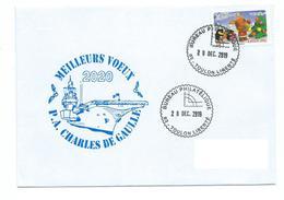 17385 - P.A. CHARLES DE GAULLE - MEILLEURS VOEUX 2020 - Marcofilia (sobres)