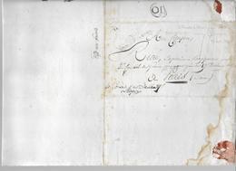 """1799 - ARMEE Du DANUBE - LETTRE CONCERNANT Un """"DESERTEUR"""" AYANT UTILISE Un FAUX BILLET De S.=> CONSEIL De GUERRE à PARIS - Marcofilia (sobres)"""