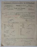 ABL Titre Congé Armée Belge Occupation Mönchengladbach Soldat Laffineur De Rienne 1919 Cachet Armée Belge Leger - Vieux Papiers