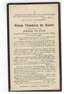 DP PetrusTheodorus De Roover Betekom 1839 Gemeenteraadslid,wedn.v JOANNA DE RYCK,gestorven Booischot 1929 - Religion & Esotérisme