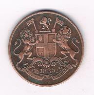 1 QUARTER ANNA 1835 INDIA /412/ - India
