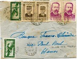 INDOCHINE LETTRE DEPART HUNG HOA 25-9-44 TONKIN POUR LE TONKIN  (RR) - Covers & Documents