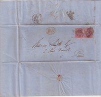 GRANDE - BRETAGNE : N° 17 . PAIRE . POUR PARIS . TB . 1855 . - 1840-1901 (Regina Victoria)