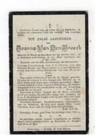 DP Joanna Van Den Broeck Geb. Heist O D Berg 1817,gestorven Booischot 1905 - Religion & Esotérisme