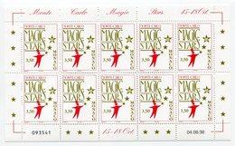 RC 15232 MONACO FEUILLE MAGIC STARS FACIALE = 35FRS = 5,33€ NEUF ** MNH TB - Monaco