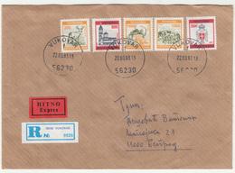 Croatia - Serbian Occupation Republika Srpska Krajna Letter Cover Posted Registered 1993 Vukovar To Beograd B200110 - Croazia